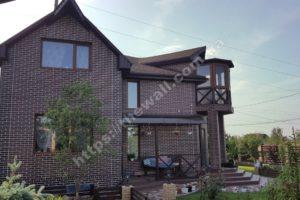 Фасадные термопанели «Термодом» в Киеве и области: дома с фасадным утеплителем клинкер 1
